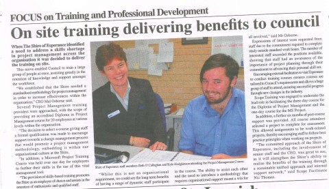 Shire Esperance News Scope Training